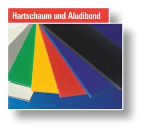Button Hartschaum und AluDibond