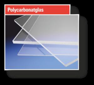 Button Polycarbonatglas
