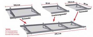 Lightline Modulares Vordach L-VSG
