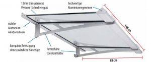 Lightline Vordach L-VSG 1460